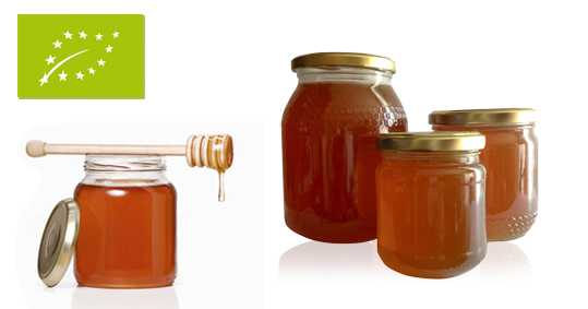Organic eucalyptus honey from Spain