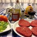 Hamburguesa con salsa a la miel
