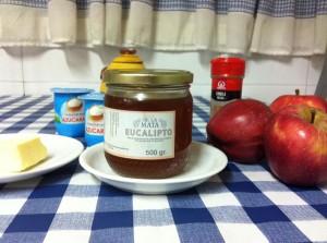 Manzanas con miel ecológica
