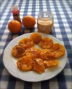 Naranjas con miel ecológica